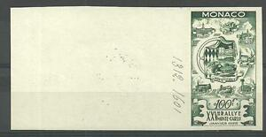MONACO (Non Dentelé) Signé par le Musée - ESSAI DE COULEURS - N° 420 // 1955