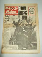 MELODY MAKER 1974 DECEMBER 21 ELTON JOHN BEACH BOYS QUEEN THE CARPENTERS