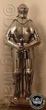 Rare Medieval Knight Suit of Armor 16th Century Fully ArticulaFree Helmet Stand