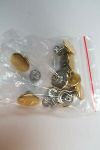 METAL Suspender BUTTONS.3 Packs of 8. Hammer On to attach BUTTON ON Leather Ears