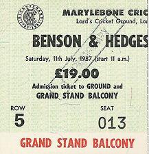 Yorkshire v Northamptonshire 1987 Benson & Hedges Cup Final Cricket Ticket