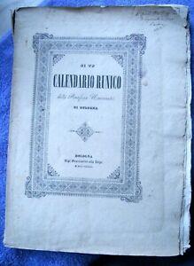 RUNIC Calendario Runico della Pontificia Universita' di Bologna ILLUSTRATED 1841