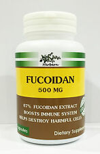 500 MG x 100 CAPSULES, FUCOIDAN 87% BROWN SEAWEED EXTRACT, ORGANIC PRODUCT