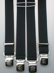 starke Hosenträger 35 mm breit Krallenclips Alligatorclips extra starke Clips