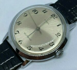 Vintage '70 Timex Viscount Mens Silver Self-Wind Automatic Mechanical Watch Hour