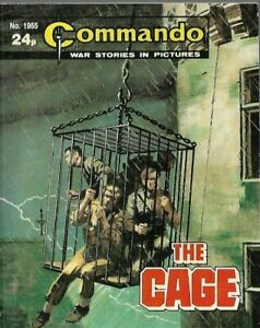 THE CAGE,COMMANDO WAR STORIES IN PICTURES,NO.1955,WAR COMIC,1986