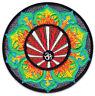 Om Symbol Lotus-Blüte Blume Yoga Goa Buddha Aufbügler Aufnäher Patch Bügelbild