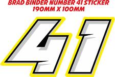 Brad Binder número 41 Pegatina/Calcomanía - 190 Mm x 100 mm