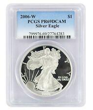 2006-W American Silver Eagle Dollar PR69DCAM PCGS Proof 69 Deep Cameo