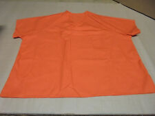 Authentic UNICOR FCI LA Federal Prison Felon Orange Scrub Shirt Size 5X Adult