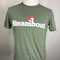 Steamboat Springs Mens GREEN Excellent Ouray Sportwear T SHIRT SIZE M