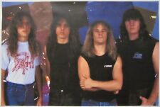 DEATH  `Leprosy line up` large poster  / Chuck Schuldiner / human symbolic