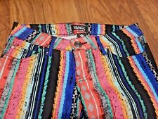CELEBRITY PINK jeans GRIFFIN STRIPED PANTS rainbow skinny print NWOT 0 XS 3E