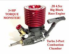 TRUE 3+HP 1/8 .28 Nitro TURBO Engine Motor Losi 8ight T HPI Savage X SS Upgrade
