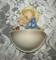 Vintage HUMMEL 1960 - 72 Bee Figurine 36/0 4 Inch Water Font Angel With Flowers