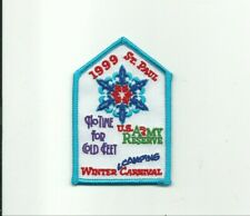 SCOUT BSA 1999 ST PAUL WINTER CARNIVAL MN US ARMY RESERVE INDIANHEAD CNCL CAMP !