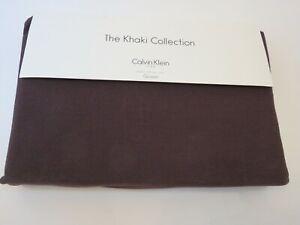 Calvin Klein Pebble Texture Tailored Queen Bedskirt Mahogany Brown