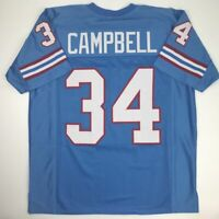 New EARL CAMPBELL Houston Blue Custom Stitched Football Jersey Size Men's XL
