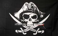 Dead Man's Chest Pirate Flag 3x5 ft Jolly Roger Sabers Swords Deadman Poly