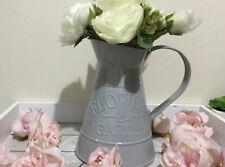 2 x Matt Gris Vintage Jugs lanceurs vases pots de fleurs maison mariage décoration