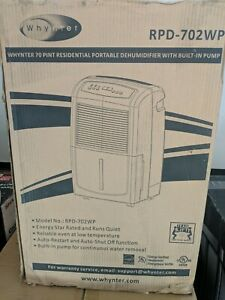 Whynter RPD-702WP 70-Pint Portable Dehumidifier with Pump New