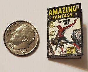 Miniature dollhouse book 1/12  Comic Book Tv show Spider-Man Amazing Fantasy 15