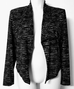 W LANE Womens 14 Open Front Cardigan Shawl Collar Long Sleeve Lined Stretch