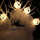 1.5M 10 LED Ghost Fairy String Lights Lamps For Halloween Party Festival Decor