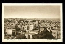 Israel TEL AVIV Panoramic View vintage PPC Eliahu Bros