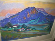 SCHWEINITZER Rudi, *1923 Abend am Tegernsee am Ringberg  MUSEAL !!!!!!