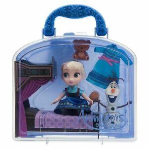 2020 RARE Disney Store Elsa Mini Doll Playset Disney Animators Collection Frozen