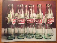 Tin Sign Vintage Coca-Cola Bottles
