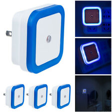 Blue US Plug Auto LED Light Induction Sensor Control Lamp Night Light Bedroom