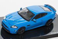 Jaguar XKR-S French Racing Blue, official Jaguar dealer model, IXO 1:43 scale