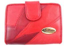 Portafogli e borsellini da donna Portamonete in pelle rossa