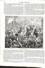 Ancien Testament Guerre Civile Jabès en Galaad Manassé Bible Israël GRAVURE 1864