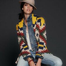 Ralph Lauren Denim Supply Women Southwester Navajo Indian Aztec Sweater Cardigan