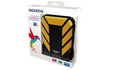 "ADATA DASHDRIVE Durable YELLOW HD710 Portable 2TB 2.5"" HDD SHOCKPROOF USB3 F33"