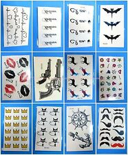 12 sheets temporary tattoo Stick on Tattoos for Adults