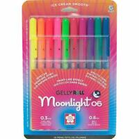 Sakura Gelly Roll Moonlight Pen Set - Fine Point Gel Ink - 10 Colors - 58176 NEW