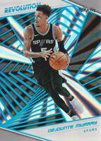 2018-19 Panini Revolution Sunburst #87 Dejounte Murray 28/75 San Antonio Spurs