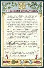 Militari Reggimentali 84º Reggimento Fanteria Venezia cartolina XF5558