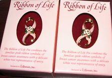 Seraphim angel cure Cancer, lapel pins, companion set NIB, Ribbon of Life