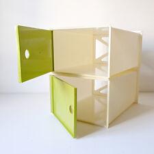 2 box de rangement modulable années 60 70 vintage 1970