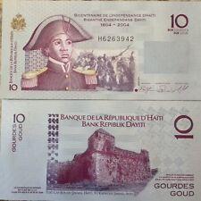 HAITI 2010 10 GOURDES UNC NOTE P-272 BICENTENNIAL INDEPENDENCE 1804-2004 SPECIAL