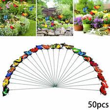 50 Butterfly Stakes Colorful Garden Butterflies Art Planter Flower Pot Decor