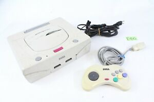 SEGA Sega Saturn SS Console HST-3220 White tested working japanese Controller