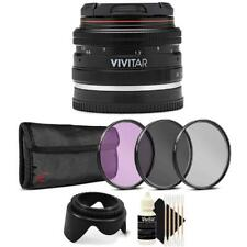 Vivitar 50mm f2.0 Lens With Filter Accessory Kit for Sony E-Mount