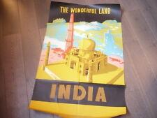 GRANDE AFFICHE INDE 1958  INDIA