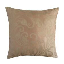 Linen Leaves Pattern 18x18 Pink/Cream Decorative/Throw Pillow Case/Cushion Cover